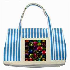 Stained Glass Striped Blue Tote Bag