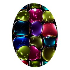 Stained Glass Oval Ornament (two Sides)