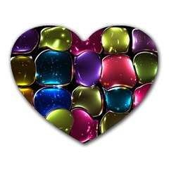 Stained Glass Heart Mousepads