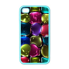 Stained Glass Apple Iphone 4 Case (color)