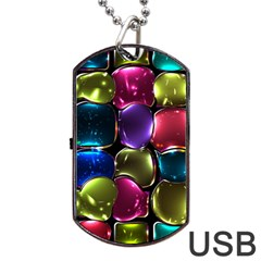 Stained Glass Dog Tag Usb Flash (two Sides)