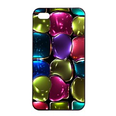 Stained Glass Apple iPhone 4/4s Seamless Case (Black)