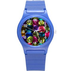 Stained Glass Round Plastic Sport Watch (s)