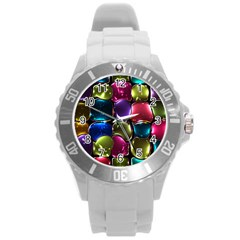 Stained Glass Round Plastic Sport Watch (L)
