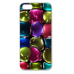 Stained Glass Apple Seamless iPhone 5 Case (Clear)