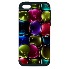 Stained Glass Apple Iphone 5 Hardshell Case (pc+silicone)
