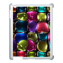 Stained Glass Apple Ipad 3/4 Case (white)
