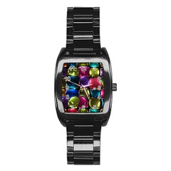 Stained Glass Stainless Steel Barrel Watch