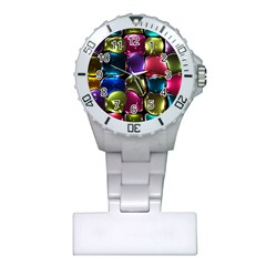Stained Glass Plastic Nurses Watch