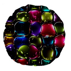Stained Glass Large 18  Premium Flano Round Cushions