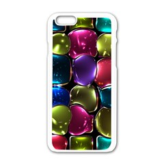 Stained Glass Apple iPhone 6/6S White Enamel Case