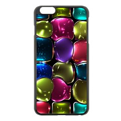 Stained Glass Apple iPhone 6 Plus/6S Plus Black Enamel Case