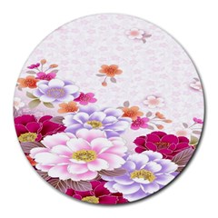 Sweet Flowers Round Mousepads