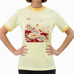Sweet Flowers Women s Fitted Ringer T Shirts