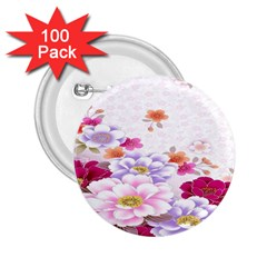 Sweet Flowers 2.25  Buttons (100 pack)
