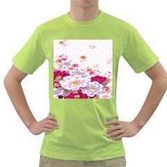Sweet Flowers Green T Shirt