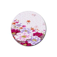 Sweet Flowers Rubber Coaster (round)
