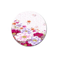 Sweet Flowers Magnet 3  (Round)