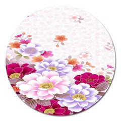 Sweet Flowers Magnet 5  (round)