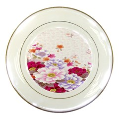 Sweet Flowers Porcelain Plates