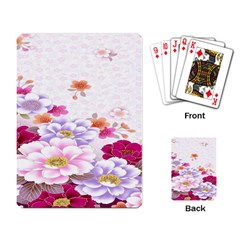 Sweet Flowers Playing Card