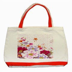 Sweet Flowers Classic Tote Bag (Red)