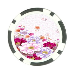 Sweet Flowers Poker Chip Card Guard