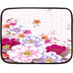 Sweet Flowers Double Sided Fleece Blanket (Mini)
