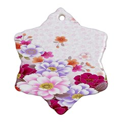 Sweet Flowers Ornament (Snowflake)