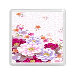 Sweet Flowers Memory Card Reader (square)