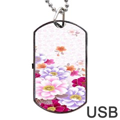 Sweet Flowers Dog Tag Usb Flash (one Side)