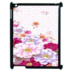 Sweet Flowers Apple iPad 2 Case (Black)