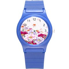 Sweet Flowers Round Plastic Sport Watch (s)