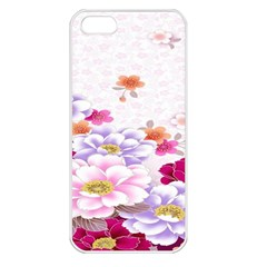 Sweet Flowers Apple Iphone 5 Seamless Case (white)