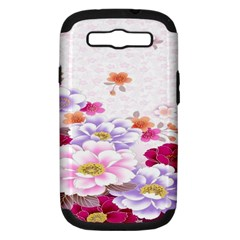 Sweet Flowers Samsung Galaxy S III Hardshell Case (PC+Silicone)
