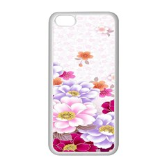Sweet Flowers Apple Iphone 5c Seamless Case (white)