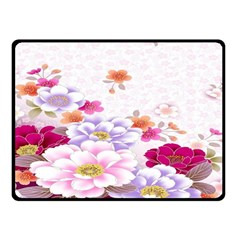 Sweet Flowers Double Sided Fleece Blanket (Small)