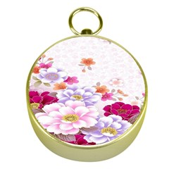 Sweet Flowers Gold Compasses