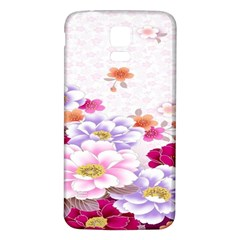 Sweet Flowers Samsung Galaxy S5 Back Case (white)
