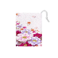Sweet Flowers Drawstring Pouches (Small)