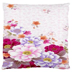 Sweet Flowers Large Flano Cushion Case (one Side)