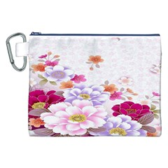 Sweet Flowers Canvas Cosmetic Bag (XXL)