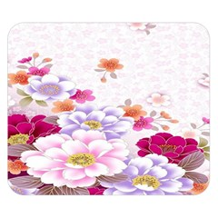Sweet Flowers Double Sided Flano Blanket (Small)