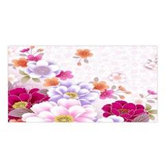 Sweet Flowers Satin Shawl