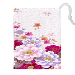Sweet Flowers Drawstring Pouches (xxl)