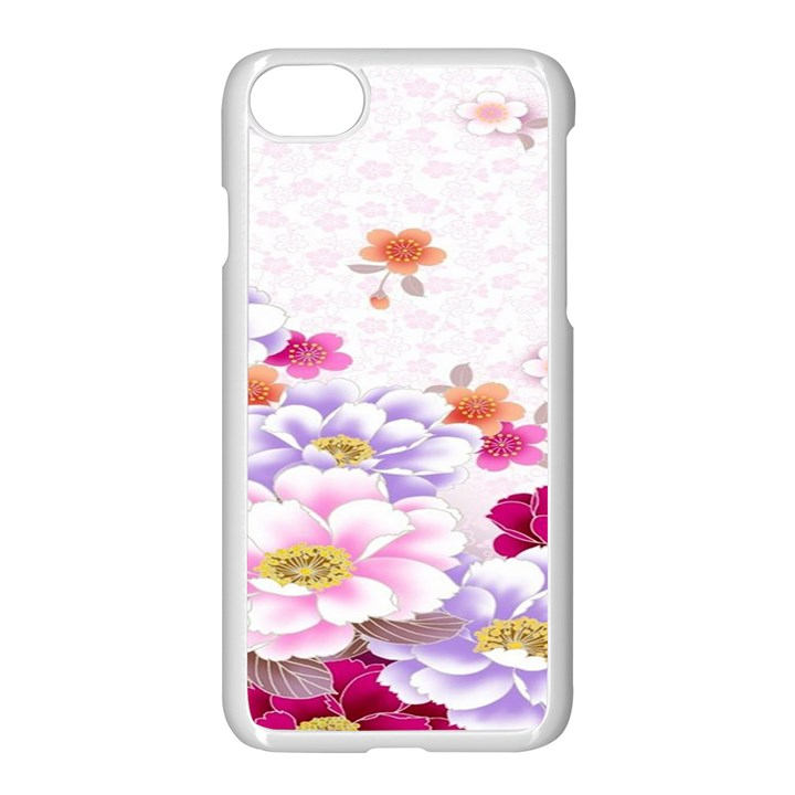 Sweet Flowers Apple iPhone 7 Seamless Case (White)