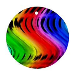 Colorful Vertical Lines Ornament (Round)