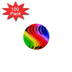 Colorful Vertical Lines 1  Mini Magnets (100 pack)