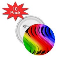 Colorful Vertical Lines 1 75  Buttons (10 Pack)