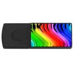Colorful Vertical Lines USB Flash Drive Rectangular (4 GB)